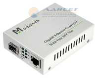Медиаконвертер Modultech MT-8110G-SFP-AS (10/100/1000M with SFP slot) Europe plug AC90-265V